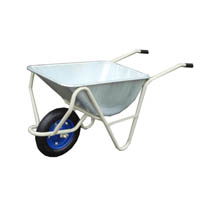 【運搬作業用品-一輪車】日本製一輪車 3才 深型 パンクレス車輪付(猫ネコねこ車) <大型・重量商品>