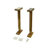お買得 家具の横すべりを抑えるストッパーがセットになった転倒防止器具 直営ストア 木調でインテリア性の良い天然木使用 防災用品-家具転倒防止用品 金象印 耐震用木製つっぱりポールM