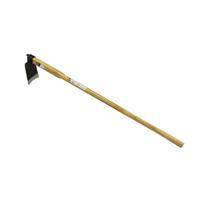 頭部(掘り起こし部)はスチール製です。掘り起こし作業用に最適。家庭菜園向。 【農作業用品、園芸作業用品-鍬(くわ)】象 幅広家庭鍬 1050椎柄付