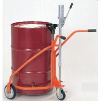 ヨドノ ドラム缶運搬機器 軽便ドラムカー プレス車輪付 300kg積 品番60-300