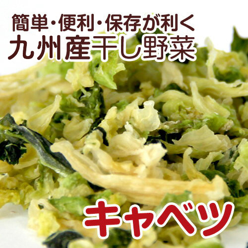 【簡単・便利・保存が利く】熊本のお野菜を中心とした乾燥野菜(干し野菜)です。 【国産】乾燥野菜(干し野菜)キャベツ 110g