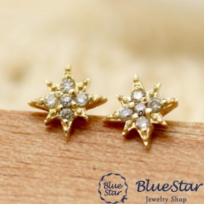 八芒星デザインピアス(星・スター・Star)  BlueStar
