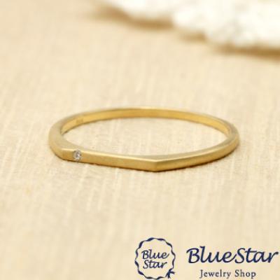 つや消しのゴールドリング。大人の雰囲気を感じさせるシンプルな指輪  BlueStar
