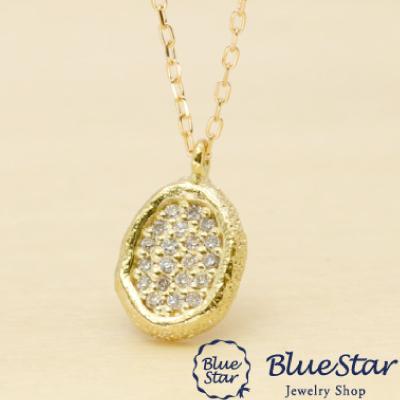 ダイヤモンドポイントデザインネックレス(つや消し・ダイヤ)  BlueStar