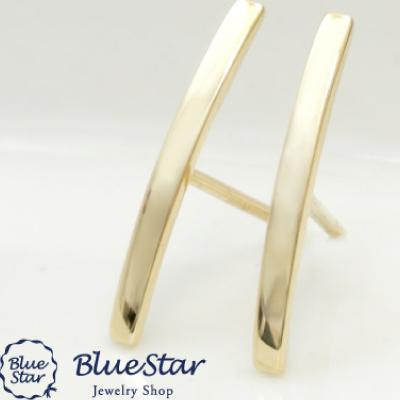 K18YG バータイプピアス  BlueStar