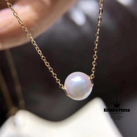 【RUKA瑠夏】☆新作☆アコヤ真珠ペンダント アコヤ真珠を一粒あしらったシンプルなペンダント。どんなファッションにも合わせやすく、装う人をシックに、モダンに演出します。本物真珠を初めて手にする方へおすすめです。8-8.5mm送料無料PE0060A