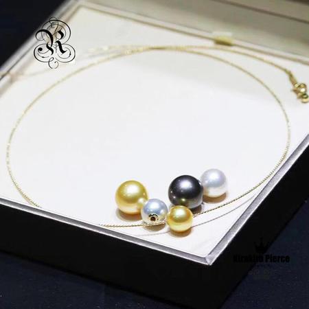 【RUKA瑠夏】大粒のアコヤ真珠が華やかに揺れる18金ネックレス。お好きなパールをステイさせることのできる使い方いろいろのジュエリーです。PE0057A送料無料PE0068A白蝶真珠:9-10mm;11-12mm;黒蝶真珠:11-12mm;アコヤ真珠:8-8.5mm;淡水パール:10-11mm