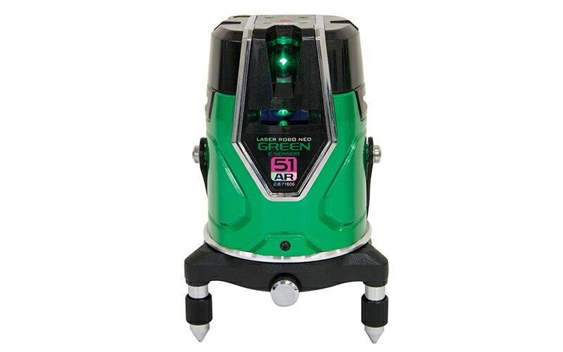 シンワ測定 (品番)71606 レーザーロボ グリーン Neo E Sensor 51AR フルライン・地墨