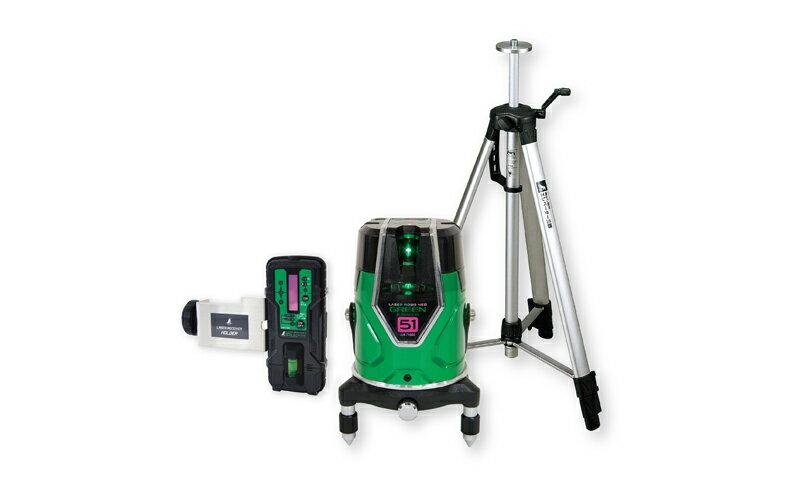 シンワ測定 (品番)71615 レーザーロボ グリーン Neo E Sensor 51 受光器・三脚セット