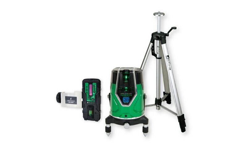 シンワ測定 (品番)71613 レーザーロボ グリーン Neo E Sensor 31 受光器・三脚セット