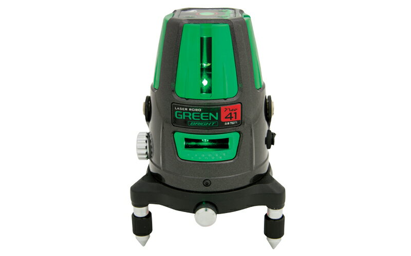 シンワ測定 (品番)78271 レーザーロボ グリーン Neo 41 BRIGHT 縦・横・大矩・通り芯・地墨