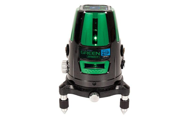 シンワ測定 (品番)78273 レーザーロボ グリーン Neo 21P BRIGHT 縦・横・天墨・地墨