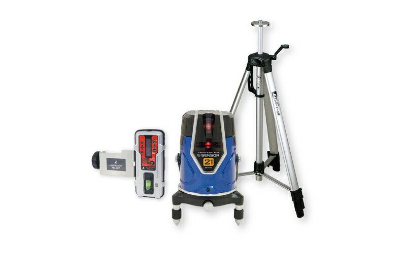 シンワ測定 (品番)71512 レーザーロボ Neo E Sensor 21 受光器・三脚セット