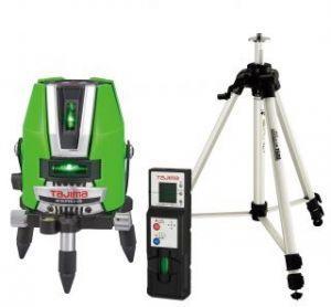 タジマ (品番:ZEROG-KYSET) ゼロジ―KY 受光器・三脚セット [本体+受光器+三脚] レーザー墨出し器