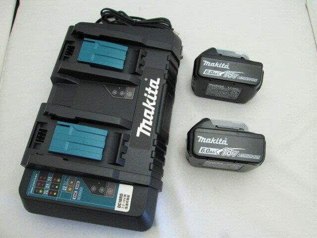 マキタ 2口急速充電器DC18RD+18VリチウムイオンバッテリBL1860B×2個 [蓄電池]