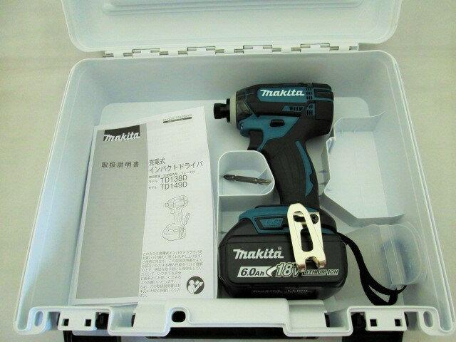マキタ 18V 充電式インパクトドライバ TD149D型 本体+[6.0Ah]バッテリBL1860B×1個+ケース
