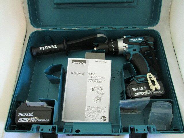 マキタ 18V 充電式ドライバドリル DF458D型 本体+[6.0Ah]バッテリBL1860B×2個+ケース