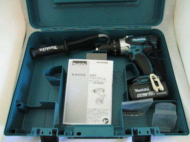 マキタ 18V 充電式ドライバドリル DF458D型 本体+[6.0Ah]バッテリBL1860B×1個+ケース
