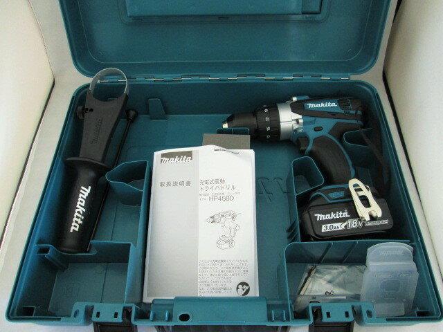 マキタ 18V 充電式震動ドライバドリル HP458D 本体+[3.0Ah]バッテリBL1830B×1個+ケース