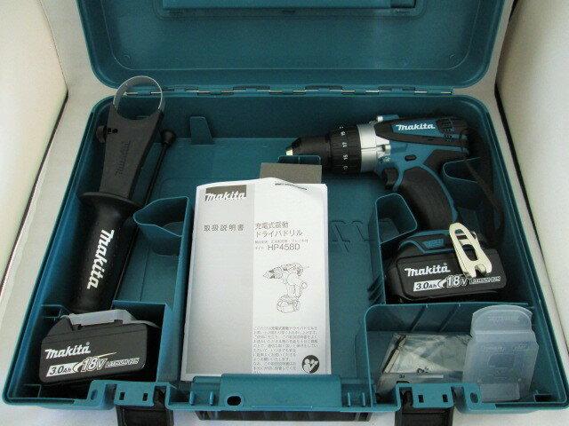 マキタ 18V 充電式震動ドライバドリル HP458D 本体+[3.0Ah]バッテリBL1830B×2個+ケース