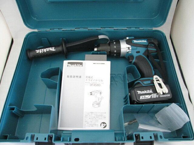 マキタ 18V 充電式ドライバドリル DF458D型 本体+[3.0Ah]バッテリBL1830B×1個+ケース