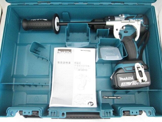 マキタ 18V 充電式ドライバドリル DF481D 本体+[3.0Ah]バッテリBL1830B×1個+ケース
