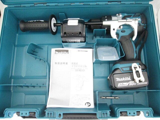 マキタ 18V 充電式ドライバドリル DF481D 本体+[3.0Ah]バッテリBL1830B×2個+ケース