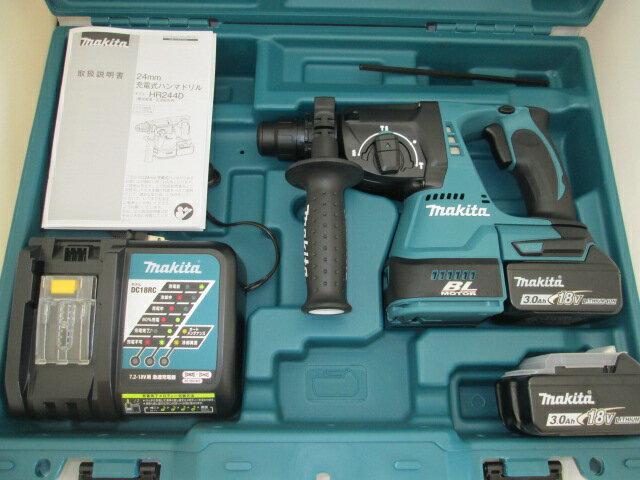 マキタ 18V 24mm充電式ハンマドリル HR244D [3.0Ah電池2個仕様]