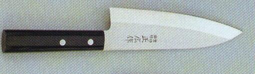【宅配便!】  正広作 10656 ステン 出刃包丁  165mm (左きき用)