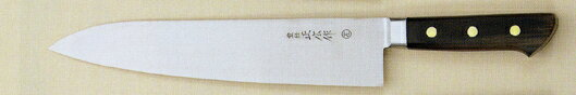 正広 13113 日本鋼 口金付 牛刀 270mm (左)