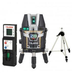 タジマ (品番:ZEROBL-KYSET ) ZERO BLUEリチウム-KY 受光器・三脚セット [本体+受光器+三脚] レーザー墨出し器