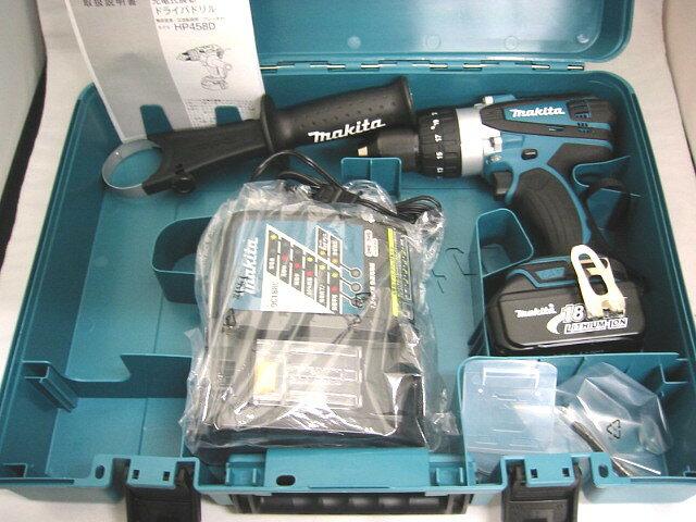 マキタ 18V 充電式震動ドライバドリル HP458D [3.0Ah電池1個仕様]