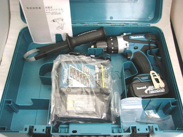 マキタ 18V 充電式ドライバドリル DF458D型 [3.0Ah電池1個仕様]