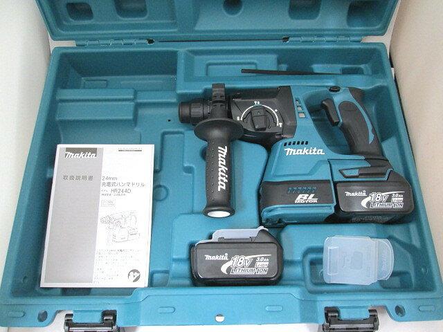 マキタ 18V 24mm充電式ハンマドリル HR244D 本体+[3.0Ah]バッテリBL1830B×2個+ケース