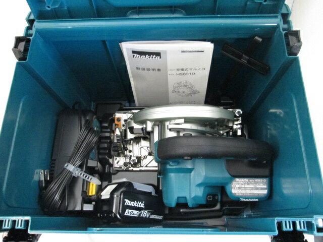 マキタ 18V 165mm充電式マルノコ HS631D [鮫肌チップソー仕様/3.0Ah電池1個仕様]
