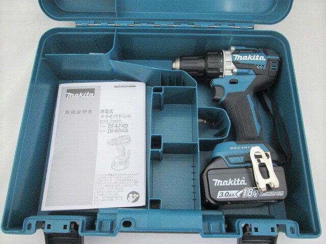 マキタ 18V 充電式ドライバドリル DF484D 本体+[3.0Ah]バッテリBL1830B×1個+ケース