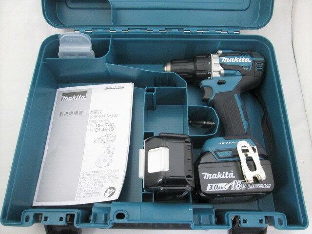 マキタ 18V 充電式ドライバドリル DF484D 本体+[3.0Ah]バッテリBL1830B×2個+ケース