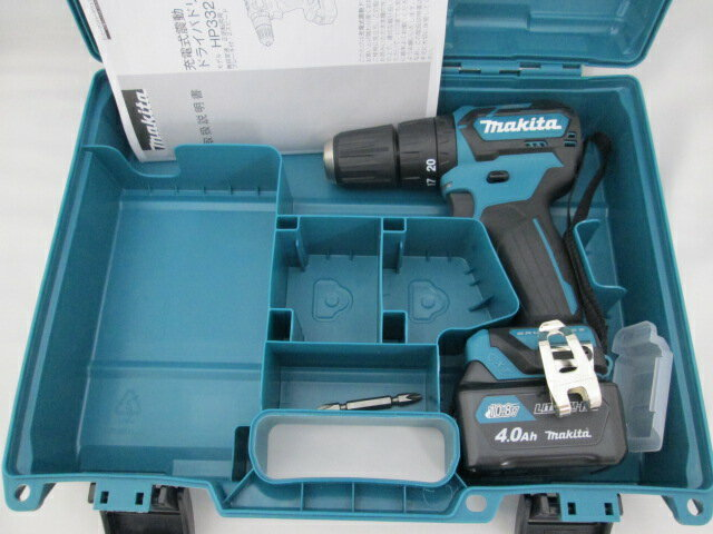 マキタ スライド式10.8V 充電式震動ドライバドリル HP332D 本体+[4.0Ah]バッテリBL1040B×1個+ケース