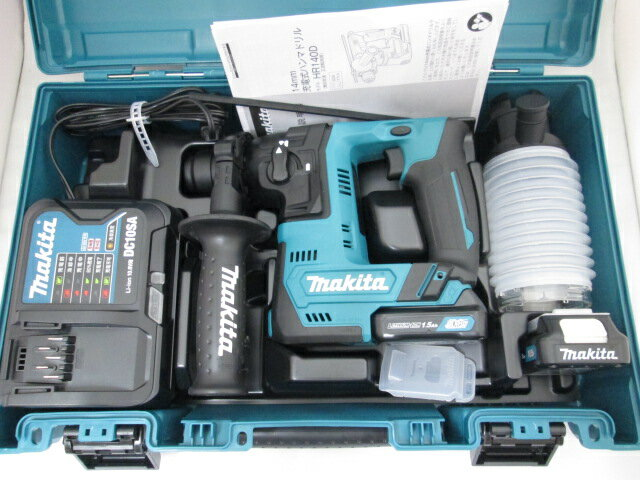 マキタ スライド式10.8V 14mm充電式ハンマドリル HR140DSHX [1.5Ah] セット品