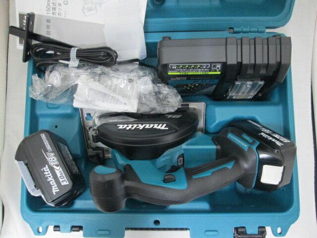 マキタ 18V 150mm充電式チップソーカッタ CS551D [3.0Ah電池2個仕様]