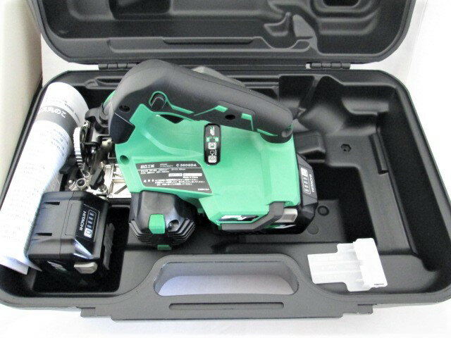HiKOKI/日立工機 マルチボルト(36V) 165mm コードレス丸のこ C3606DA 本体+電池BSL36A18×2個+ケース
