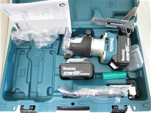 マキタ 18V 充電式トリマ RT50D 本体+[3.0Ah]バッテリBL1830B×2個+ケース