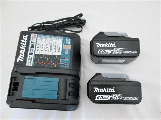マキタ 18VリチウムイオンバッテリBL1860B×2個+急速充電器DC18RF [蓄電池]