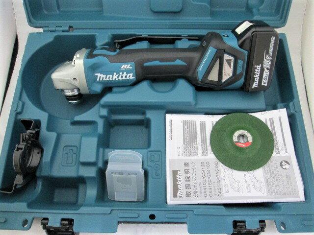 マキタ 18V 100mm充電式ディスクグラインダ GA412D 本体+[6.0Ah]バッテリBL1860B×1個+ケース