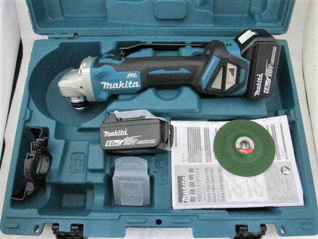 マキタ 18V 100mm充電式ディスクグラインダ GA412D 本体+[6.0Ah]バッテリBL1860B×2個+ケース