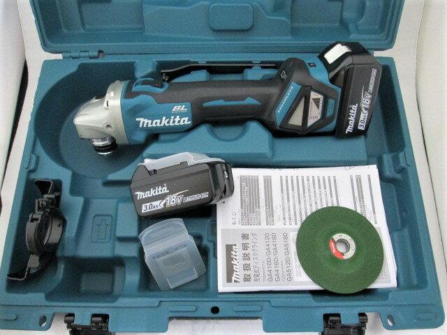 マキタ 18V 100mm充電式ディスクグラインダ GA412D 本体+[3.0Ah]バッテリBL1830B×2個+ケース