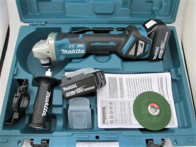 マキタ 18V 100mm充電式ディスクグラインダ GA418D 本体+[3.0Ah]バッテリBL1830B×2個+ケース