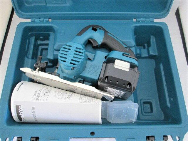 マキタ 18V 125mm充電式マルノコ HS471D[鮫肌チップソー仕様] 本体+[6.0Ah]バッテリBL1860B×1個+ケース