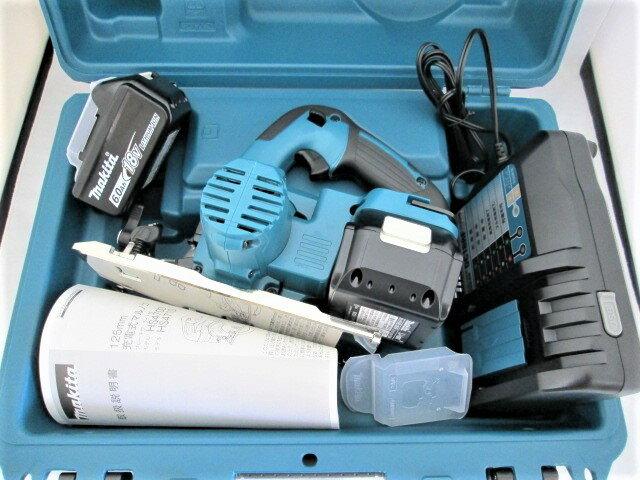 マキタ 18V 125mm充電式マルノコ HS471D [鮫肌チップソー仕様/6.0Ah電池2個仕様]