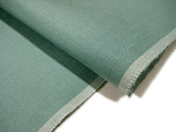 ★ plus Silk weaving mountain ★ home, cotton m. raw weaving Yuki pongee ★ blue-green